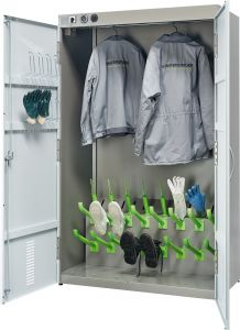 Compact  - Group locker for 8 complete sets of work gear.