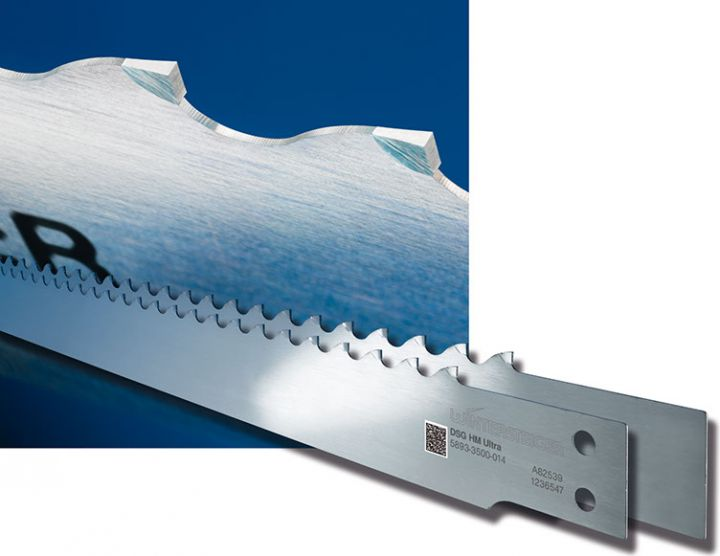 Carbide-tipped saw blade for thin-cutting frame saws
