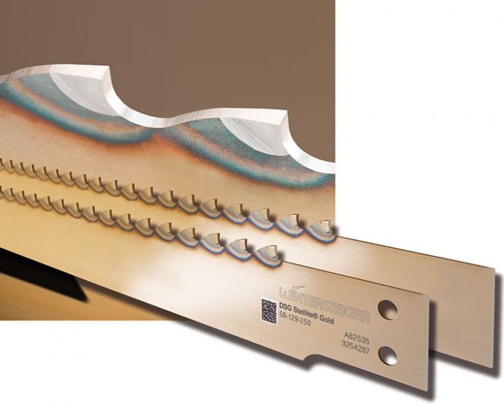 Stellite® saw blades for thin-cutting frame saws