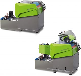 Omega B The flexible belt grinding machine for skis and snowboards.
