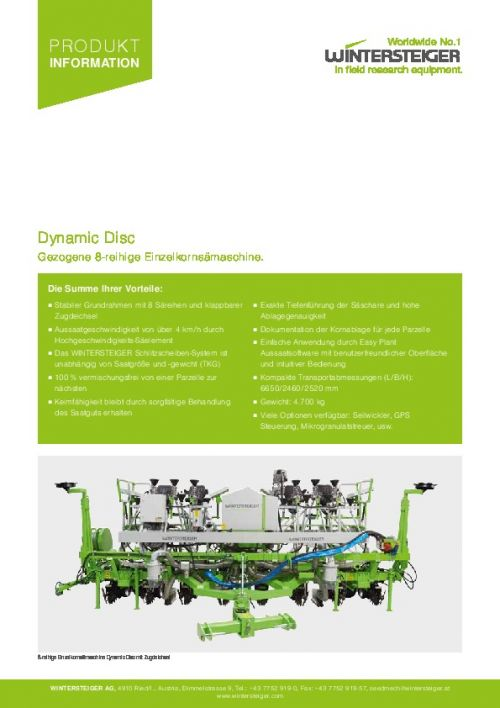 Dynamic Disc Pulltype (DE)