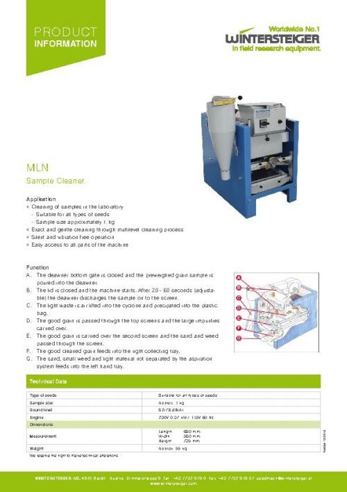 MLN Sample Cleaner (EN)