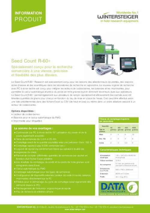 Seed Count R-60+ (FR)