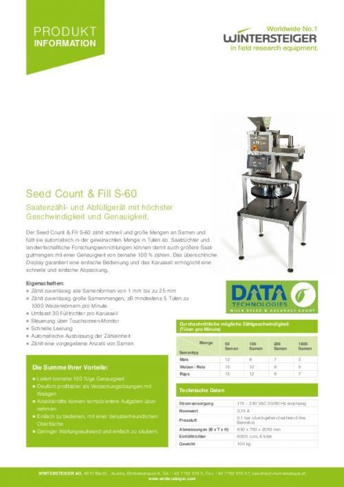 Seed Count & Fill S-60 (DE)