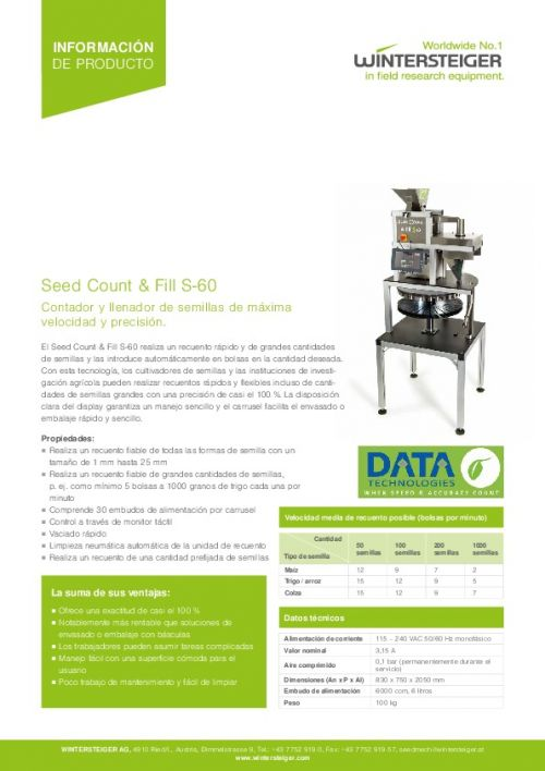 Seed Count & Fill S-60 (ES)