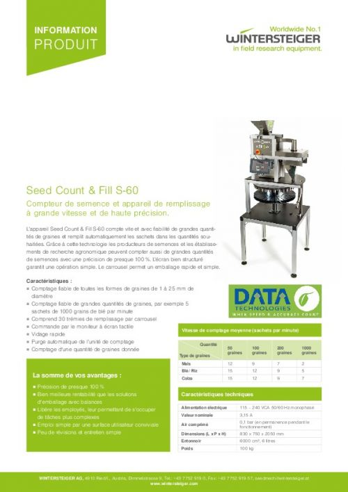 Seed Count & Fill S-60 (FR)
