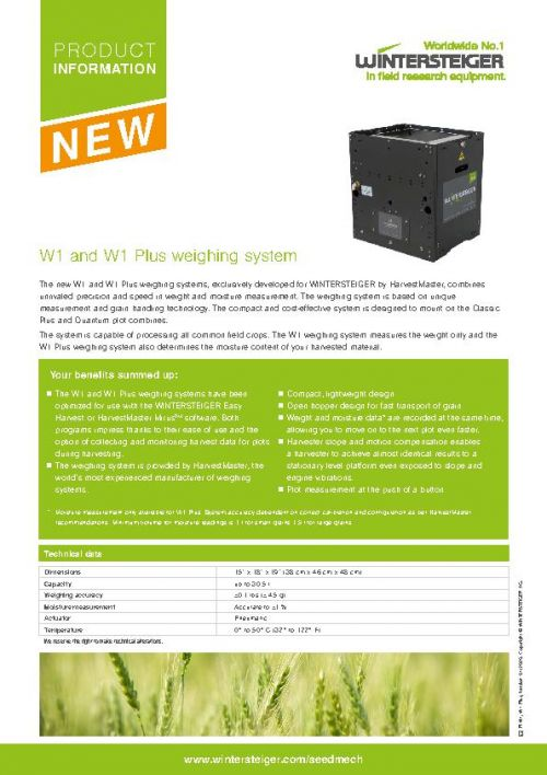 Weighing system W1 and W1 Plus