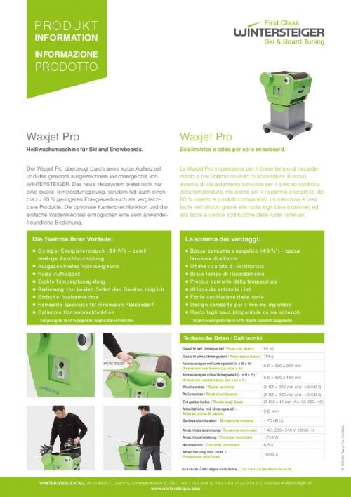 Waxjet Pro - Hot Waxing Machine (D)