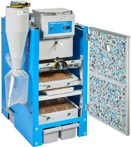 SLN sample cleaner - Sieve machine with sorting sieve.