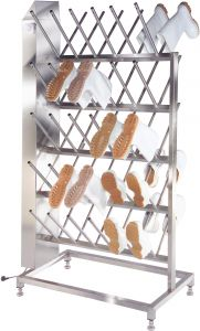 Inox Stainless steel boot dryer for the food industry.