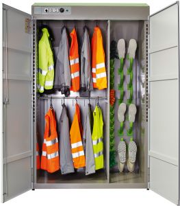 Combi Eco Lockers for groups for complete sets of work gear.