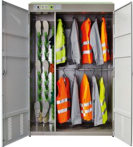Combi Lockers for complete sets of work gear.