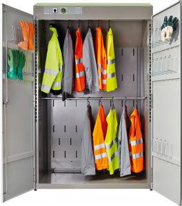Multi Eco Drying locker for work clothes and gear of large teams.