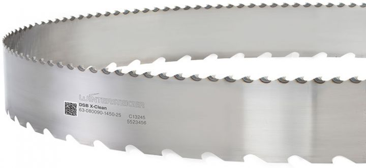 X-Clean saw blades for thin-cutting band saws