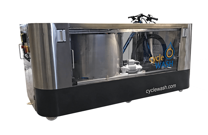cycleWASH duo  - Two-sided, fully automatic bike cleaning in a single pass.
