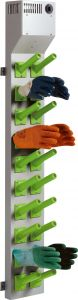 Glove 10  - Wall-mounted dryers for gloves.