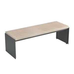 Bench with upholstered seat cushion