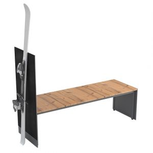 Bench with ski rest