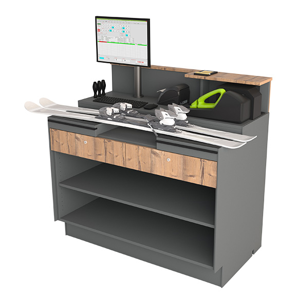 Adjustment desk 125 with 2 drawers