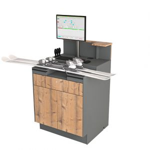 Adjustment desk 75 with with double doors and drawer