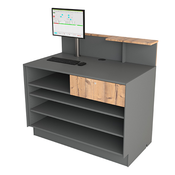 Cash desk 125 with drawer