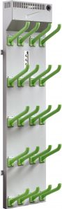 Boot 5/10  - Wall-mounted dryers for gloves, shoes and boots in stainless steel.