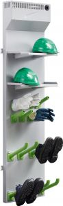 For 4 Wall-mounted dryer for shoes, boots, gloves and helmets.